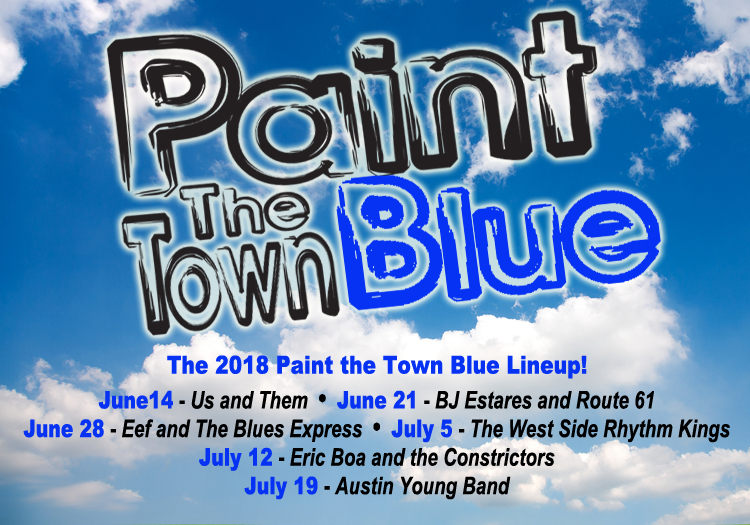 Paint the Town Blue 2018 graphic